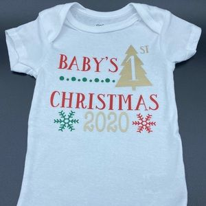 Baby's First Christmas Onesie for Boy or Girl